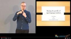 Raising the profile of sign language teachers