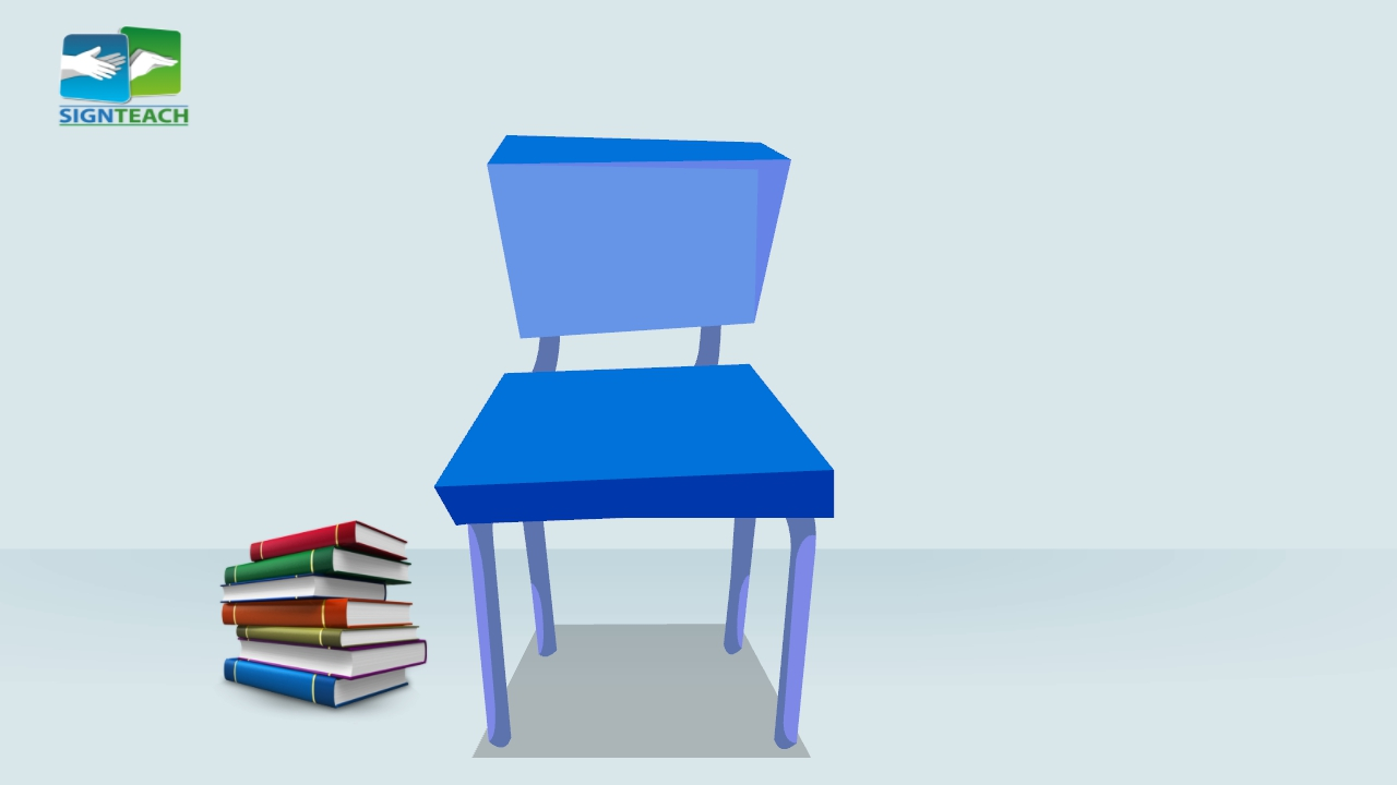 Chair - books - left