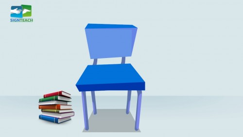Chair - books - left