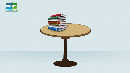 Table - books - on