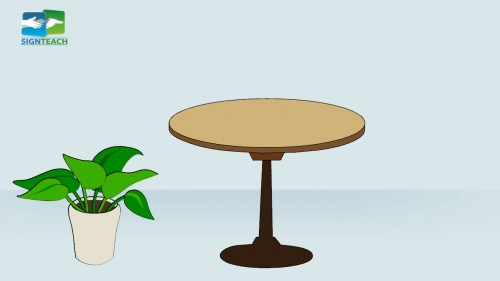Table - plant -left