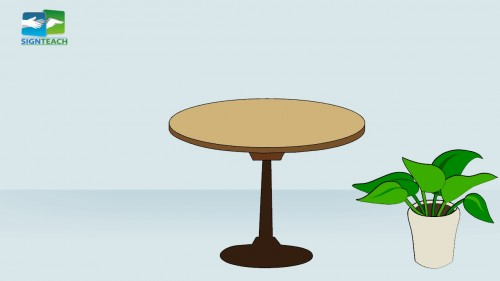 Table - plant - right