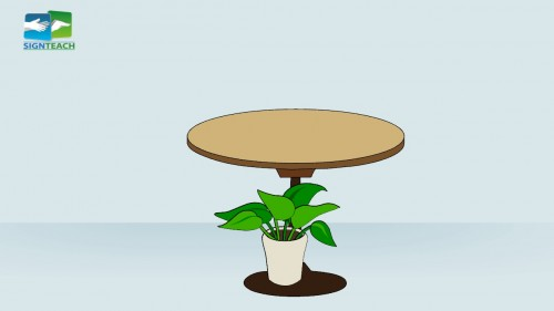 Table - plant - under